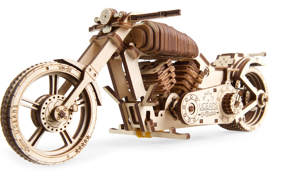 Used Look Möbel Anleitung ~ Ugears mechanical model bike vm 02 wooden construction kit for