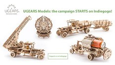 UGEARS launches the coolest self-propelled mechanical wooden models on INDIEGOGO