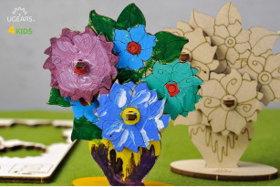 3D coloring model «Bouquet»
