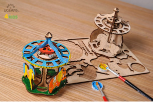 3D coloring model «Merry-go-round»