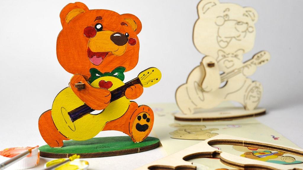 3D модель-розмальовка «Ведмедик»