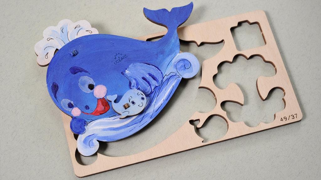 3D coloring model «Whale»
