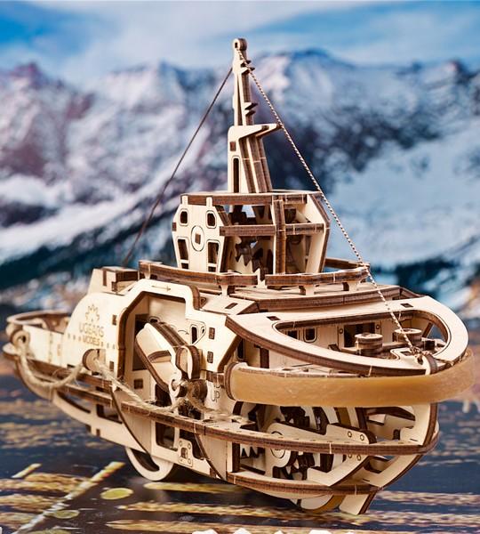 Tugboat: Ugears mechanischer 3D Modellbausatz