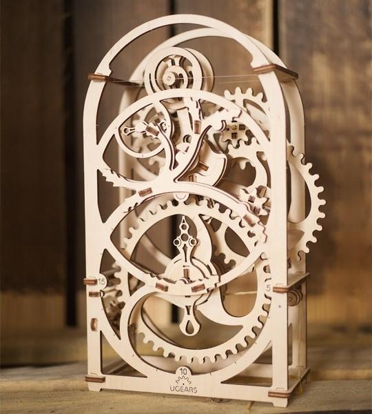 Ugears mechanisches Modell Kit Timer Sekundenzähle für 20 Minuten und Holz 3D-Puzzle. Selbstfahrender Uhrenkit mit Pendelmechanismus. Originelles Geschenk für Jungen und Mädchen und schickes Hobby für Erwachsene.