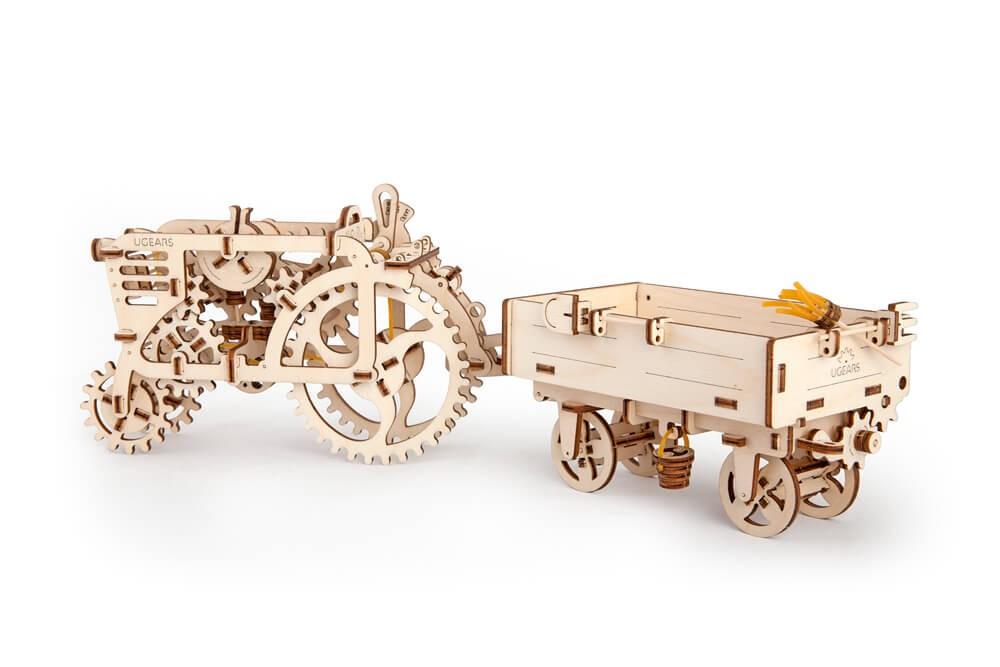 UGEARS Modellbausatz Anhänger Traktor
