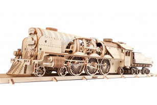 V-Express Steam Train with Tender mechanical model kit