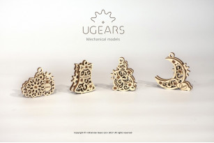 U-Fidgets-Gearsmas. Set of 4 models