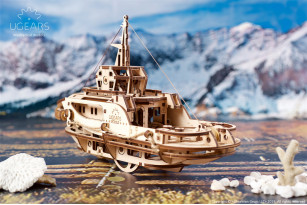 Tugboat mechanical model kit