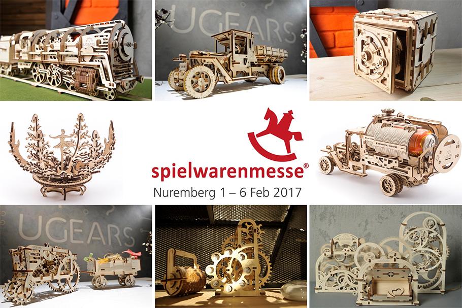 ugears at spielwarenmesse 2017 in nuremberg germany 1 6. Black Bedroom Furniture Sets. Home Design Ideas
