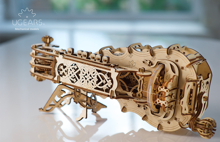 Ugears launches the Hurdy-Gurdy and Mechanical Town Series