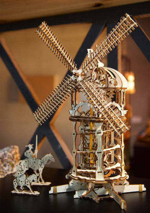 the Ugears Tower-Windmill model